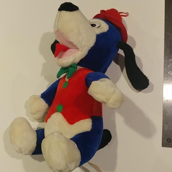 4/$15 🌻 Blue Dog w Red Vest & Hat Stuffed Animal